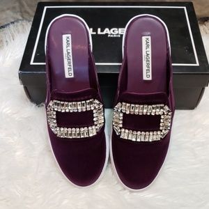Karl Lagerfeld jewelled slide on sneakers